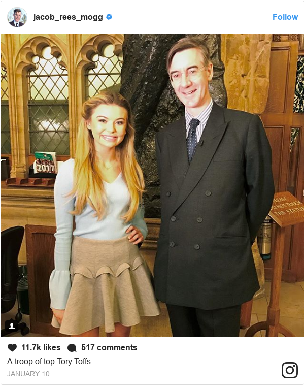 Instagram post by jacob_rees_mogg: A troop of top Tory Toffs.