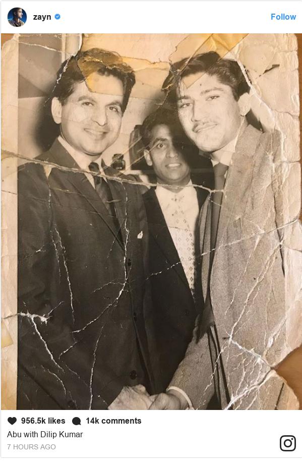 انسٹا گرام پوسٹس zayn کے حساب سے: Abu with Dilip Kumar