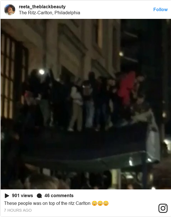 Instagram post by reeta_theblackbeauty: These people was on top of the ritz Carlton 😳😳😳