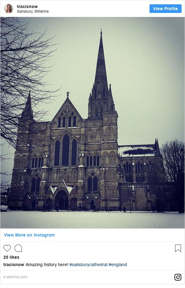 Instagram пост, автор: tracisnow: Amazing history here! #salisburycathedral #england