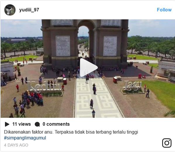 Instagram pesan oleh yudiii_97: Dikarenakan faktor anu. Terpaksa tidak bisa terbang terlalu tinggi #simpanglimagumul
