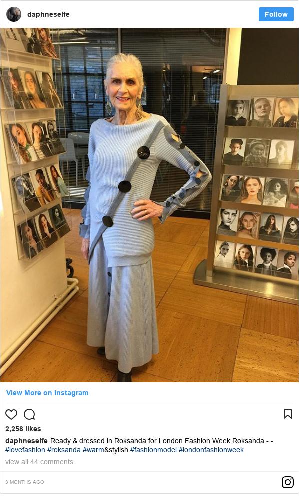 Instagram post by daphneselfe: Ready & dressed in Roksanda for London Fashion Week Roksanda - - #lovefashion #roksanda #warm&stylish #fashionmodel #londonfashionweek