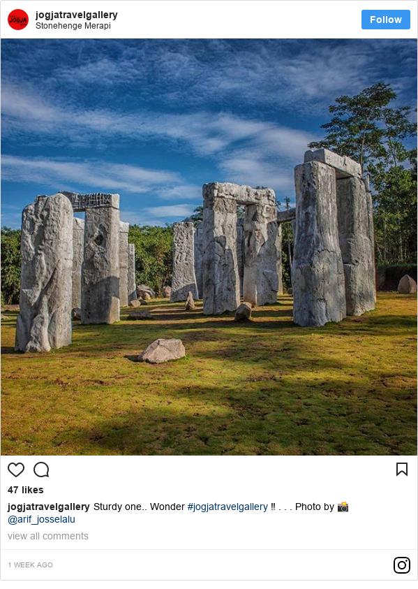 Instagram pesan oleh jogjatravelgallery: Sturdy one.. Wonder #jogjatravelgallery ‼️ . . . Photo by 📸 @arif_josselalu