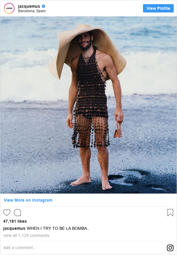 Instagram post by jacquemus: WHEN I TRY TO BE LA BOMBA..