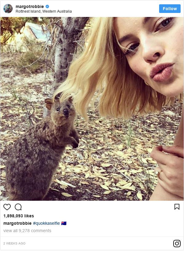Instagram post by margotrobbie: #quokkaselfie 🇦🇺