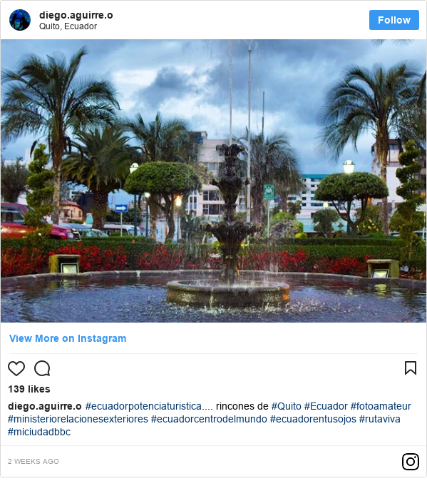 Publicación de Instagram por diego.aguirre.o: #ecuadorpotenciaturistica.... rincones de #Quito #Ecuador #fotoamateur #ministeriorelacionesexteriores #ecuadorcentrodelmundo #ecuadorentusojos #rutaviva #miciudadbbc