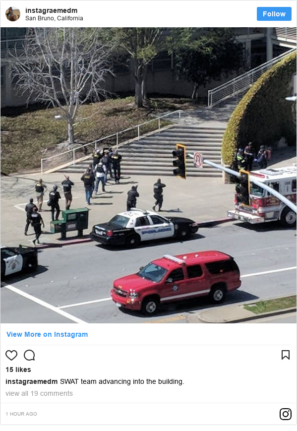 Instagram post by instagraemedm: SWAT team advancing into the building.