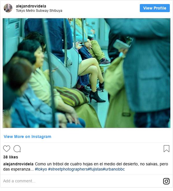 Publicación de Instagram por alejandrovidela: Como un trébol de cuatro hojas en el medio del desierto, no salvas, pero das esperanza... #tokyo #streetphotographers#fujistas#urbanobbc
