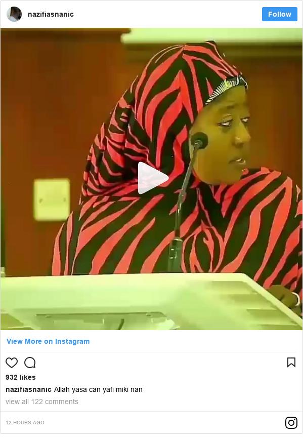Instagram wallafa daga nazifiasnanic: Allah yasa can yafi miki nan