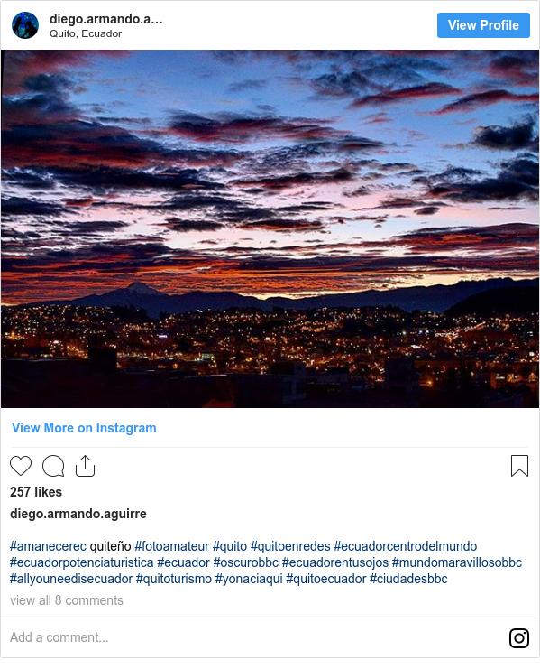 Publicación de Instagram por diego.aguirre.o: #amanecerec quiteño #fotoamateur #quito #quitoenredes #ecuadorcentrodelmundo #ecuadorpotenciaturistica #ecuador #oscurobbc #ecuadorentusojos #mundomaravillosobbc #allyouneedisecuador #quitoturismo #yonaciaqui #quitoecuador #ciudadesbbc
