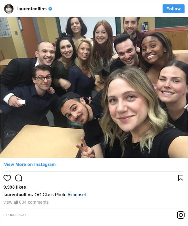 Instagram post by laurenfcollins: OG Class Photo  #imupset