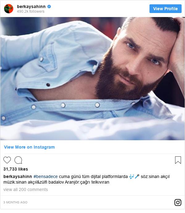 Instagram post by berkaysahinn: #bensadece  cuma günü tüm dijital platformlarda 🎶🎤 söz sinan akçıl müzik sinan akçıl&zülfi badalov Aranjör çağrı telkıvıran