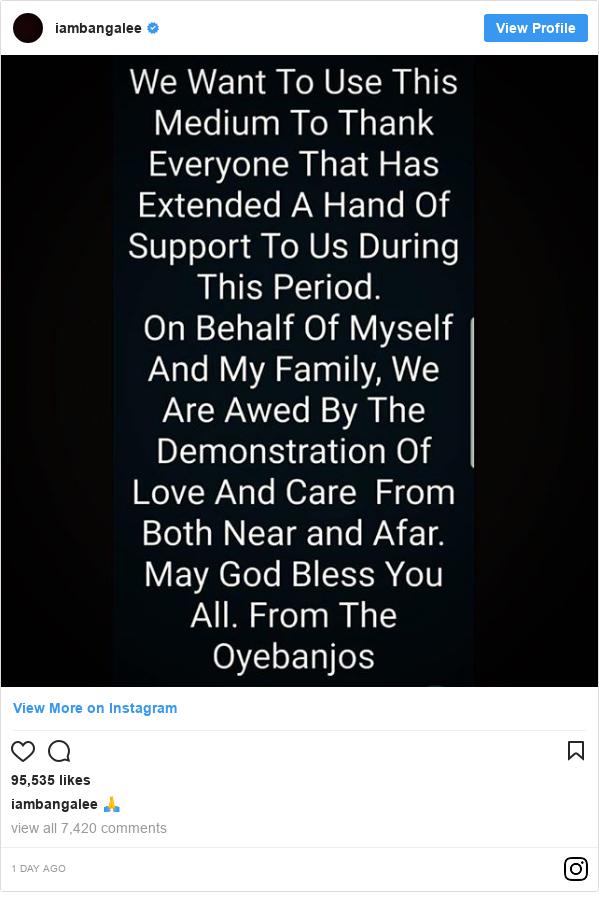 Instagram post by iambangalee: 🙏