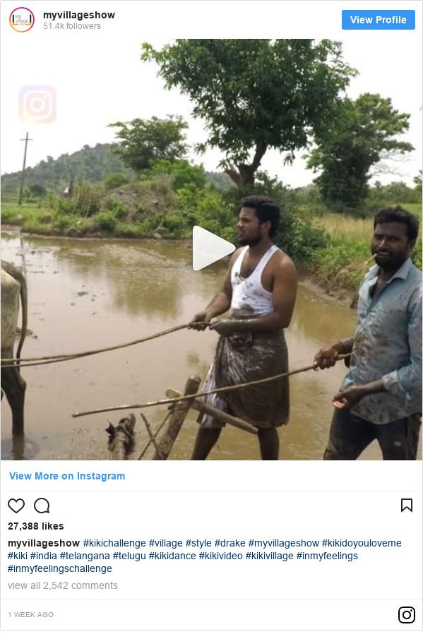 Instagram post by myvillageshow: #kikichallenge #village #style #drake #myvillageshow #kikidoyouloveme #kiki #india #telangana #telugu #kikidance #kikivideo #kikivillage #inmyfeelings #inmyfeelingschallenge