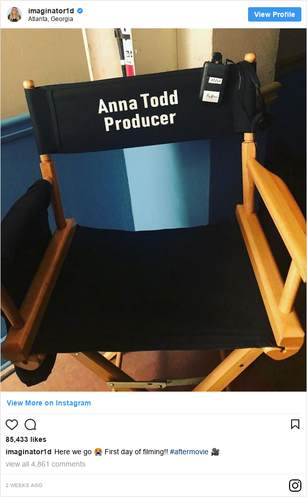 Instagram post by annatodd: Here we go 😭 First day of filming!! #aftermovie 🎥