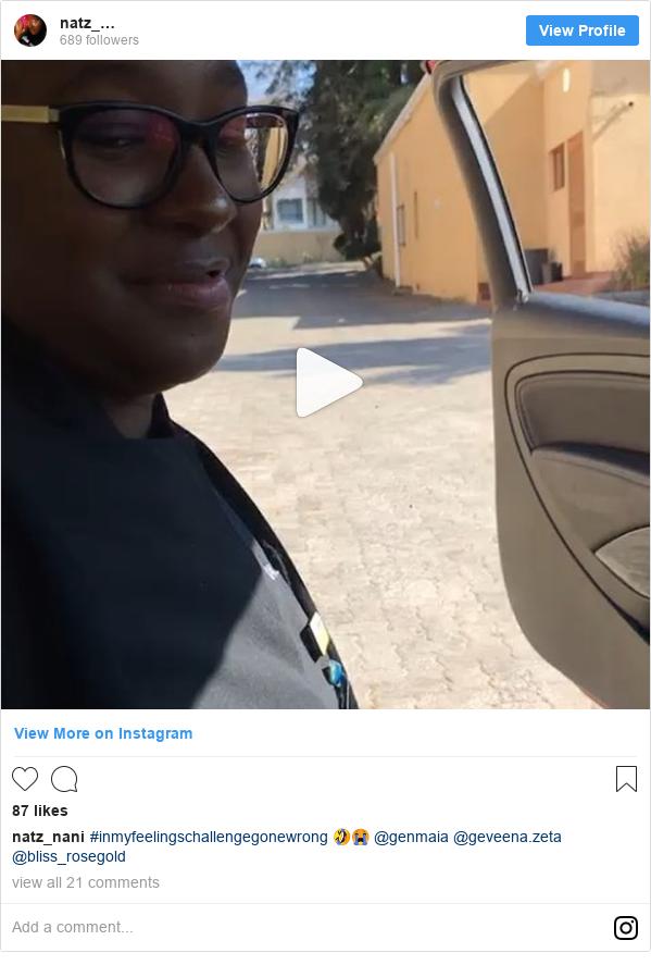 Instagram post by natz_nani: #inmyfeelingschallengegonewrong 🤣😭 @genmaia @geveena.zeta @bliss_rosegold