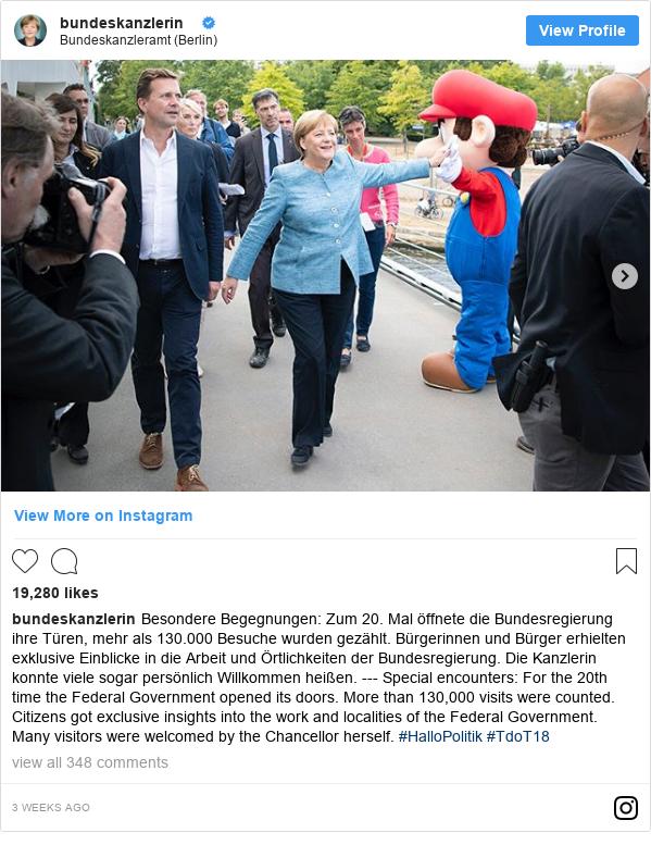 Instagram Bundeskanzlerin