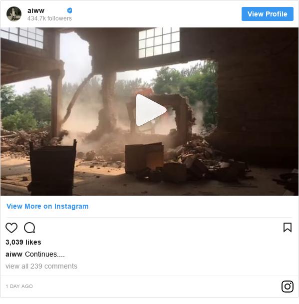 Publicación de Instagram por aiww: Continues....