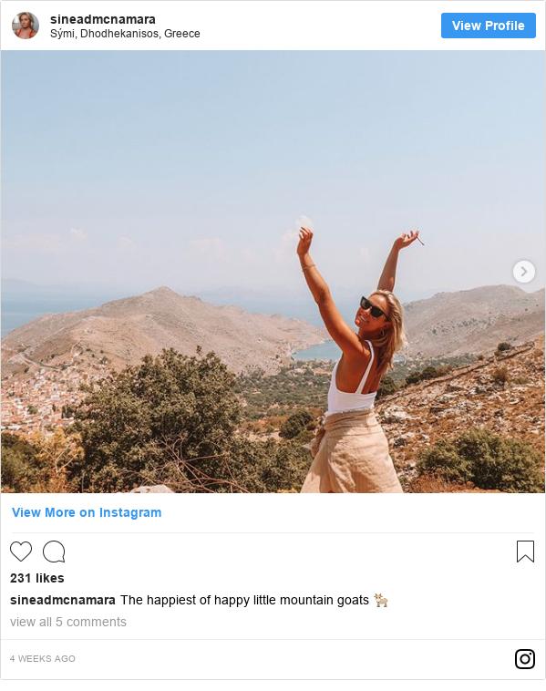 Instagram post by sineadmcnamara: The happiest of happy little mountain goats 🐐