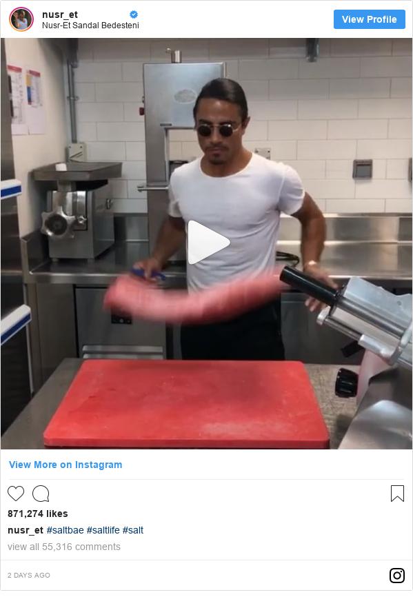 Instagram post de nusr_et: #saltbae #saltlife #salt