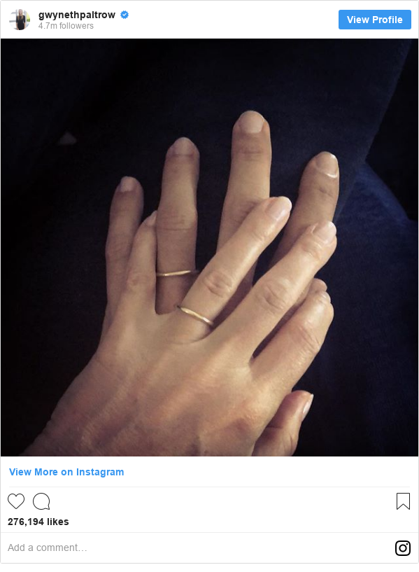 Instagram post by gwynethpaltrow: