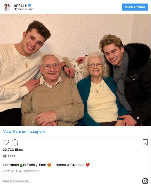 Instagram post by aj11ace: Christmas🎄is Family Time 😍... Nanna & Grandad ❤️