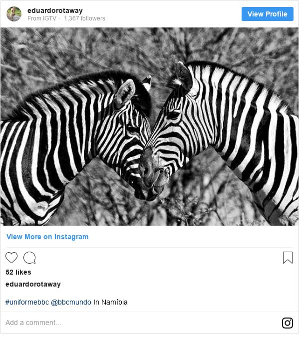 Publicación de Instagram por eduardorotaway: #uniformebbc @bbcmundo In Namíbia