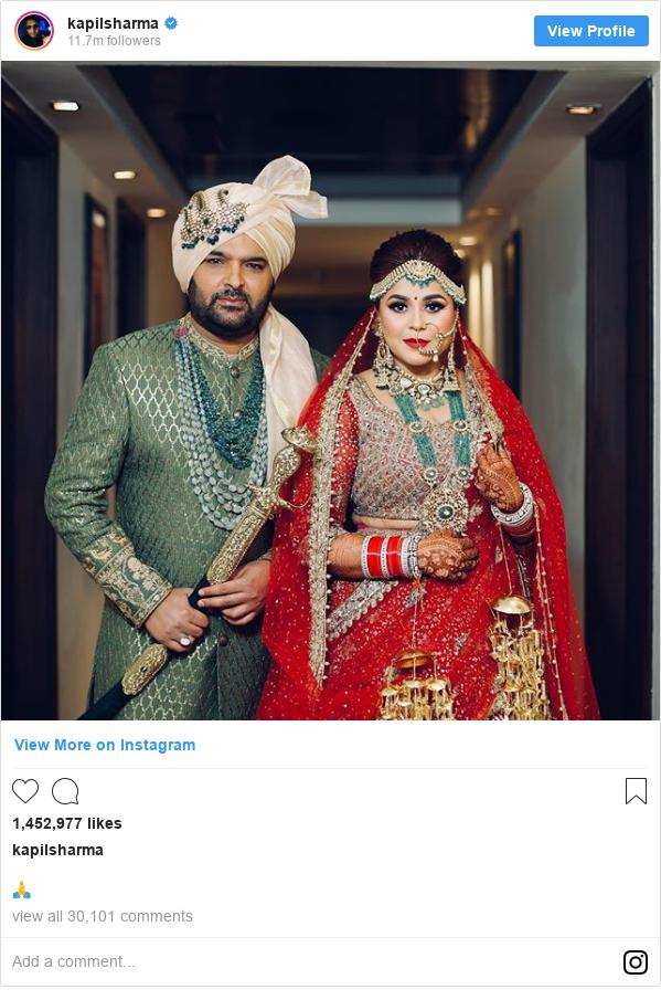 Instagram post by kapilsharma: 🙏