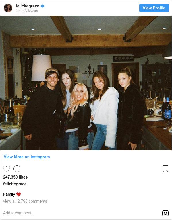 Publicación de Instagram por felicitegrace: Family ❤️
