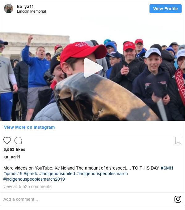 Publicación de Instagram por ka_ya11: More videos on YouTube  Kc Noland The amount of disrespect.... TO THIS DAY. #SMH #ipmdc19 #ipmdc #indigenousunited #indigenouspeoplesmarch #indigenouspeoplesmarch2019