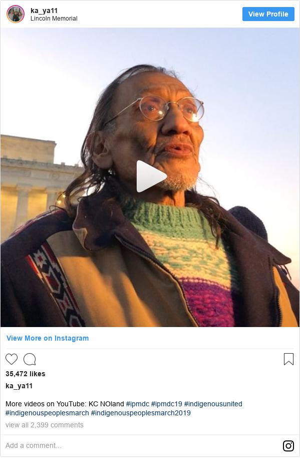Publicación de Instagram por ka_ya11: More videos on YouTube  KC NOland #ipmdc #ipmdc19 #indigenousunited #indigenouspeoplesmarch #indigenouspeoplesmarch2019