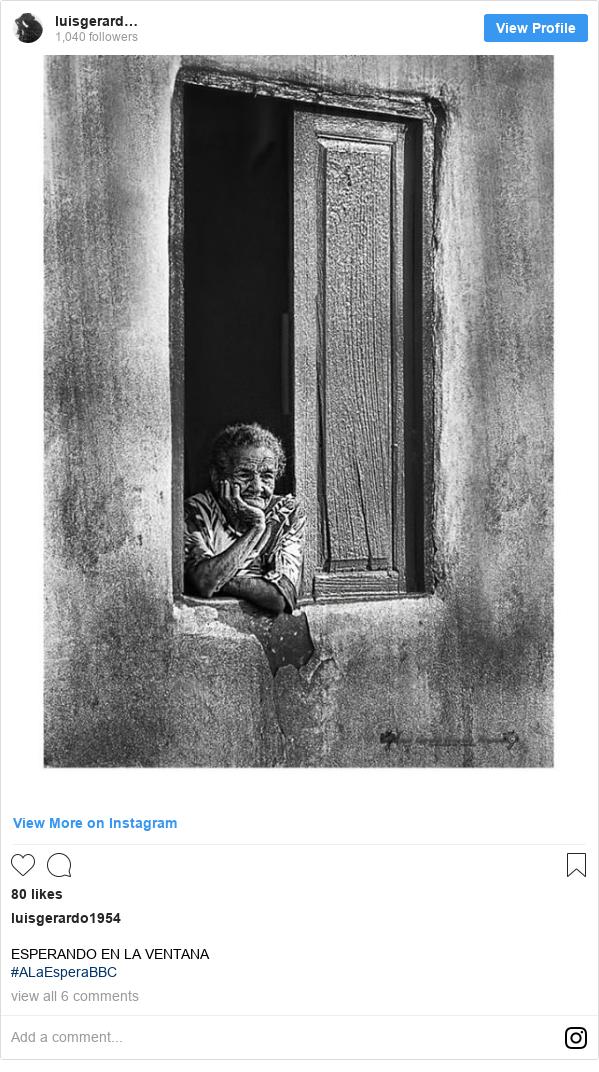 Publicación de Instagram por luisgerardo1954: ESPERANDO EN LA VENTANA #ALaEsperaBBC
