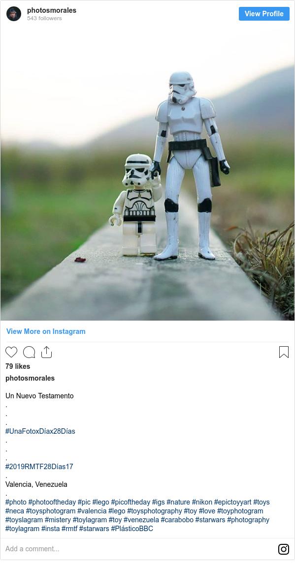 Publicación de Instagram por photosmorales: Un Nuevo Testamento . . . #UnaFotoxDíax28Días . . . #2019RMTF28Días17 . Valencia, Venezuela . #photo #photooftheday #pic #lego #picoftheday #igs #nature #nikon #epictoyyart #toys #neca #toysphotogram #valencia #lego  #toysphotography #toy #love #toyphotogram #toyslagram #mistery #toylagram #toy #venezuela #carabobo #starwars #photography #toylagram #insta #rmtf #starwars #PlásticoBBC