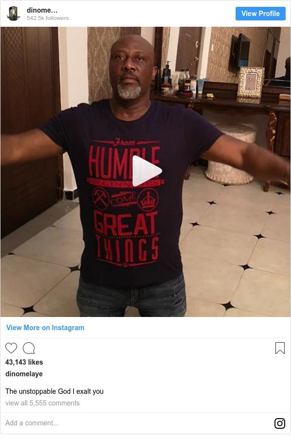 Instagram post by dinomelaye: The unstoppable God I exalt you