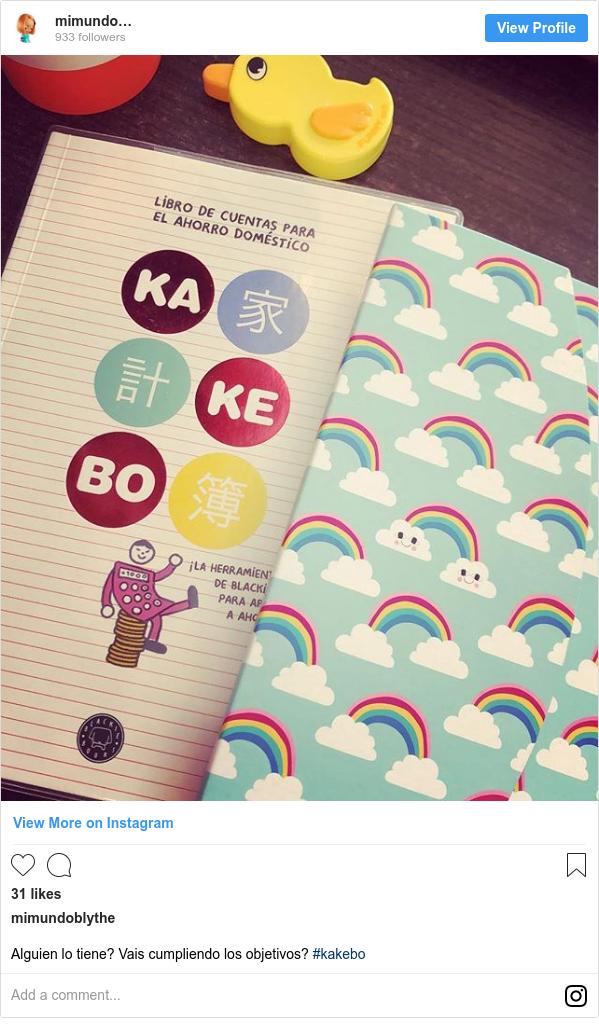 Publicación de Instagram por mimundoblythe: Alguien lo tiene? Vais cumpliendo los objetivos? #kakebo