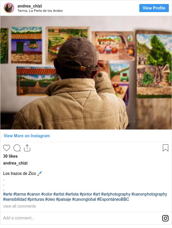 Publicación de Instagram por andrea_chizi: Los trazos de Zico 🖌 . . . #arte #tarma #canon #color #artist #artista #pintor #art #artphotography #canonphotography #sensibilidad #pinturas #oleo #paisaje #canonglobal #EspontáneoBBC