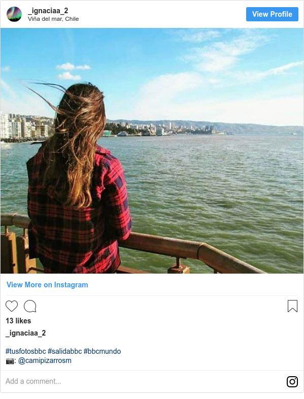 Publicación de Instagram por _ignaciaa_2: #tusfotosbbc #salidabbc #bbcmundo 📷  @camipizarrosm