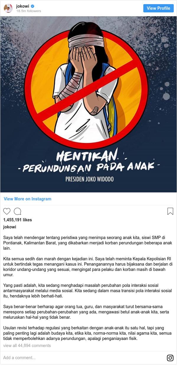 Kasus AU: Akun Twitter dilaporkan ke polisi, twit Jokowi ...