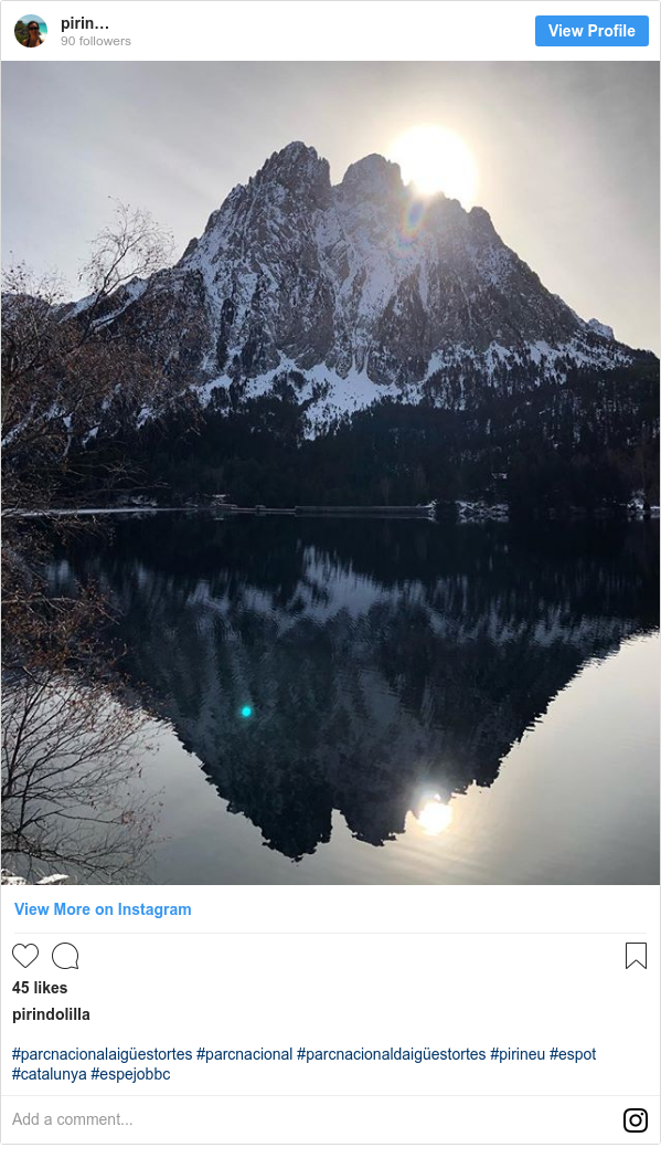 Publicación de Instagram por pirindolilla: #parcnacionalaigüestortes #parcnacional #parcnacionaldaigüestortes #pirineu #espot #catalunya #espejobbc