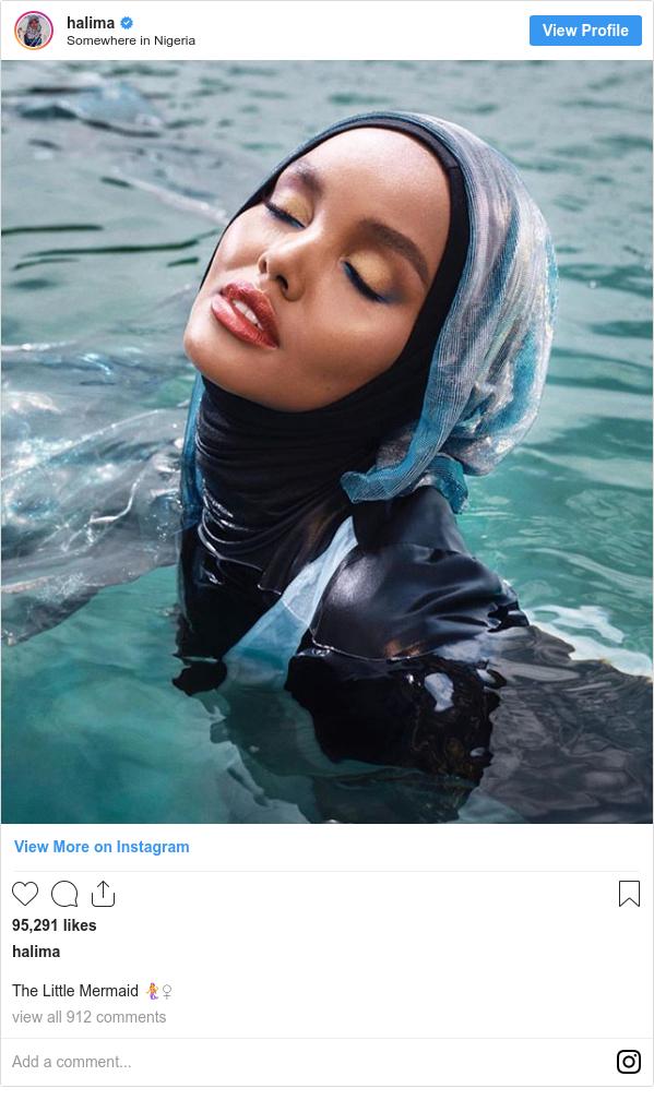 Instagram пост, автор: halima: The Little Mermaid 🧜♀️
