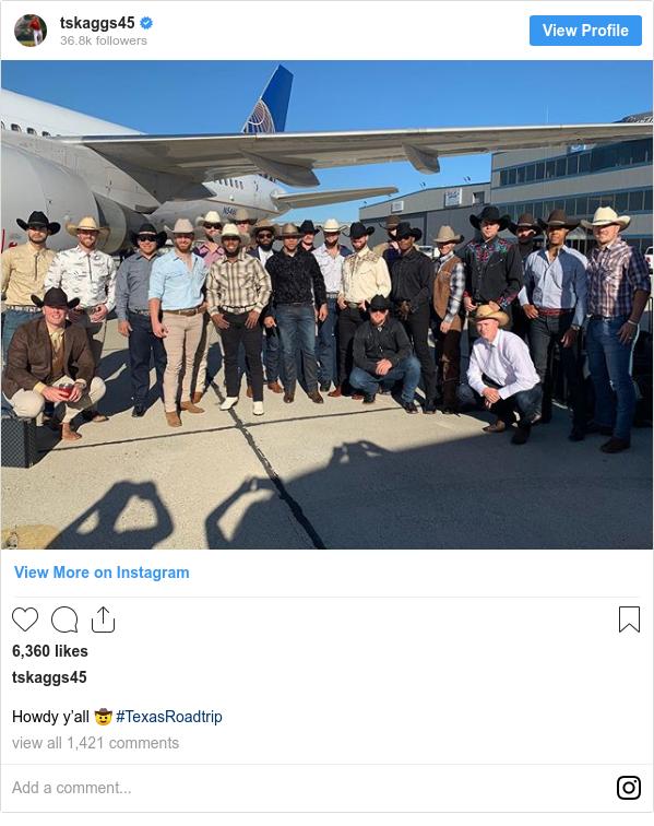 Instagram post by tskaggs45: Howdy y'all 🤠 #TexasRoadtrip