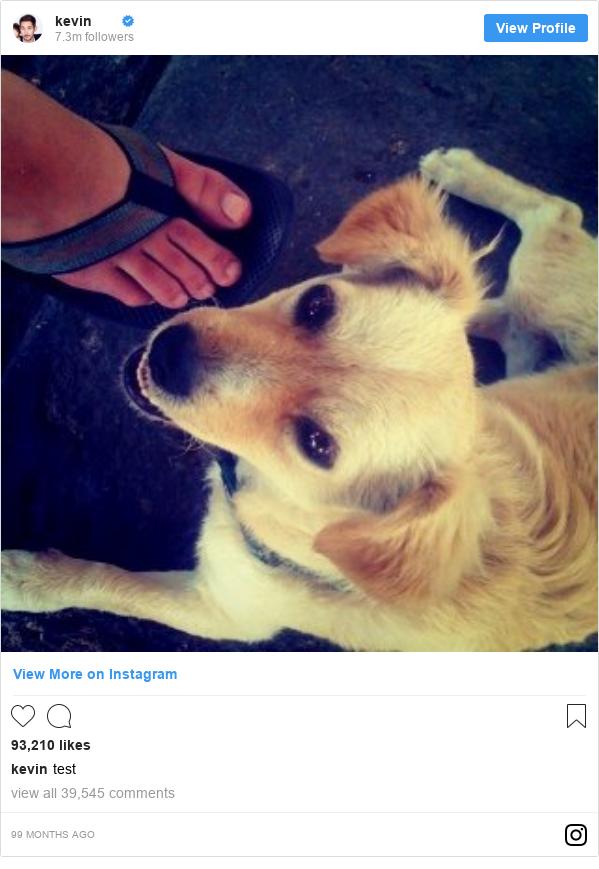 Publicación de Instagram por kevin: test