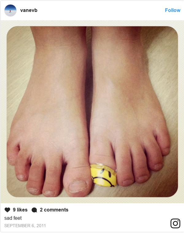 Publicación de Instagram por vanevb: sad feet