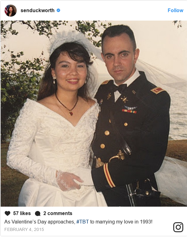 Instagram post by senduckworth: As Valentine's Day approaches, #TBT to marrying my love in 1993!
