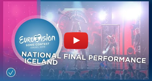 Youtube post by Eurovision Song Contest: Hatari - Hatrið Mun Sigra - Iceland 🇮🇸 - National Final Performance - Eurovision 2019