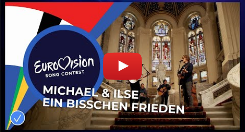Youtube post by Eurovision Song Contest: Michael Schulte & Ilse DeLange - Ein Bisschen Frieden - Eurovision  Europe Shine A Light