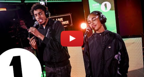 Youtube post by BBC Radio 1: AJ Tracey & Jorja Smith cover Flowers (Sunship Remix) in the Live Lounge