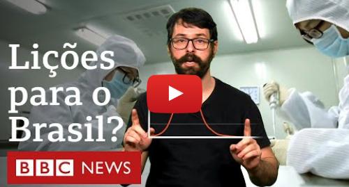 YouTube post de BBC News Brasil: Coronavírus  a curva de contágio que o Brasil precisa evitar