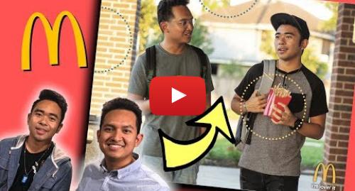 Youtube post by Jevholution: We Became McDonalds Poster Models