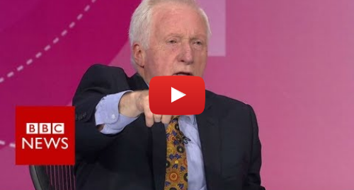 Youtube post by BBC News: Question Time host Dimbleby boots out audience member - BBC News